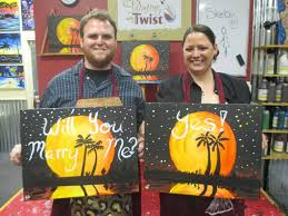 painting with a twist pensacola fl love was in the air at our