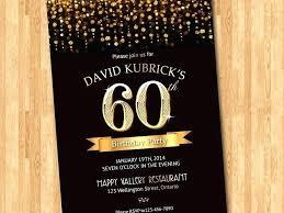 Surprise 60th Birthday Invitations Classic Black White Surprise