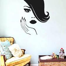 salon wall art y women wall stickers creative spa beauty salon wall decor beautiful girl hands
