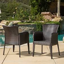 Christopher Knight Home Anaya Outdoor Wicker <b>Dining Chairs</b>, <b>2</b> ...