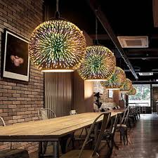 3d modern hanging ceiling pendant light glass colored chandelier lamp bar decor