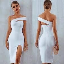 <b>White</b> Bodycon Bandage Women Vestidos Verano <b>2019 Summer</b> ...