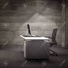 rustic modern office. Modern Office Space With Rustic Wooden Walls, Contemporary Desk, Chair And Computer Lit By