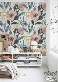 pink poppy removable wallpaper fl