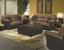 Stylish Sofa Sets For Living Room Brown Microfiber Stylish Sofa Loveseat Set W Dark Bycast Base