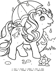 Small Picture Color by Numbers coloring pages Download and print Color by