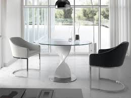 Image Chairs Glass Dining Tables And Chairs Modern Furniture Room Intended For Round Table Inspirations 15 Thetastingroomnyccom Glass Dining Tables And Chairs Modern Furniture Room Intended For