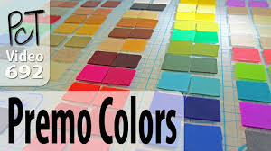 Premo Color Mixing Chart Premo Sculpey Polymer Clay Colors Raw Vs Baked