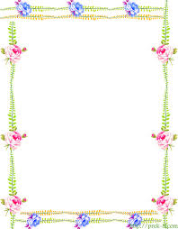 Paper With Flower Border Free Simple Flower Border Designs For A4 Paper Download
