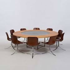 Perfect Furniture Poul Kjaerholm Pk54 Pk 54 Table With Leaves And 9 Throughout Decorating Ideas