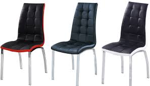 dining chairs faux leather. dining chairs faux leather with foam padded chrome frame d