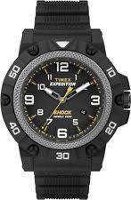 mens timex indiglo watch timex mens expedition field sport shock black strap case indiglo watch tw4b01000