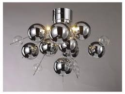contemporary 6 light chrome glass ball chandelier mulberry moon within ideas 11