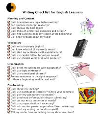 the tried and tested essay writing checklist writing checklist