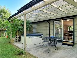 plexiglas roof panels covered patio