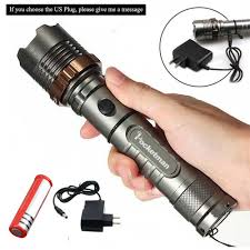 Police Tactical Light Details About 10000lm T6 Led Flashlight Zoomable Torch Lamp Police Tactical Light Battery