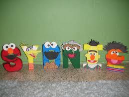 Etsy Art Sesame Street Character Letter Art By Gunnersnook On Etsy 1000