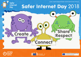 Image result for safer internet day 2018  create connect share respect poster