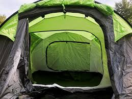 the tent and its accessories are d in a large circular but thin bag once you pull the tent out and separate the groundsheet fly and canopies