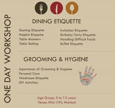 Importance Of Table Setting Dining Etiquette Grooming Hygiene Workshop For Kids Kids Stop