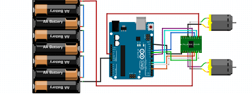 fritzing project working with l298n dc motor driver Drok L298n V3 Wiring Diagram working with l298n dc motor driver