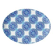 Blue And White China Pattern Beauteous Blue White China Pattern 48x48 Platter Zazzle