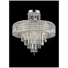 ss stunning 12 light crystal semi flush ceiling light in polished chrome finish fl2381 12