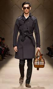bonded heritage trench coat burberry db black menswear runway