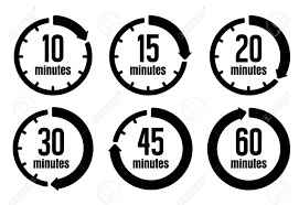Set A Timer For 10 Minutes Clock Timer Time Passage Icon Set Form 10 Minutes To 60 Minutes