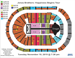 Big Brother Seating Chart Jonas Brothers Infinite Energy Center