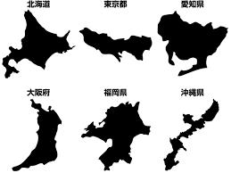 日本地図のフリーイラスト無料ダウンロードサイトfree Japan Map