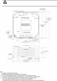 dimension one spas hot tub caliente general specifications californian architectural specifications