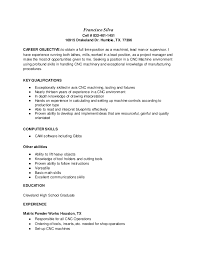 Machinist Resume Template Magnificent CNC Machinist Resume