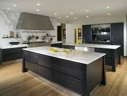 Black Marble Kitchen Countertops Brown Varnished Oak Wood Kitchen Island Rectangular Black Marble