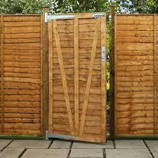 image to enlarge 5ft x 3ft waltons lap wooden garden gate