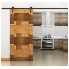 6 6 ft american antique style sliding barn wood door hardware closet set home decor