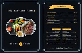 Restaurant Menu Design Templates Free Menu Design Templates Lightspeed Restaurant Pos