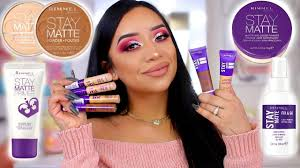 Rimmel Stay Matte Foundation Color Chart Testing Out Rimmel Londons Stay Matte Line Hit Or Miss Drugstore Makeup Ohmglashes