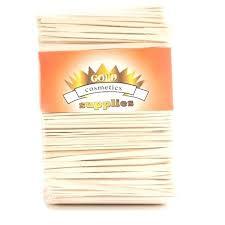 wood craft materials gold cosmetics supplies pieces small wax sticks wood craft waxing spatula applicator for