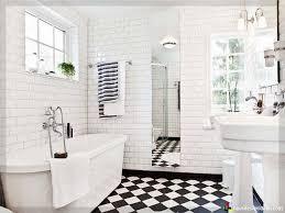 Schwarz Weiß Ein Klassiker Badezimmer Bad Bath Fliesen And Weis