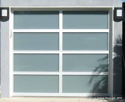 full view glass garage door with clear anodized aluminum frames and white laminated doors cost costco