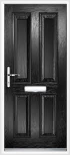 4 panel posite front door black