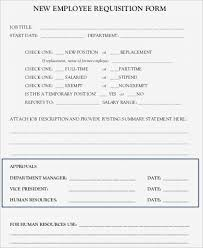 Employee Requisition Form Staffing Request Template Sample 8