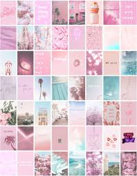 60 IMAGES Pink Aesthetic Collage Kit ...