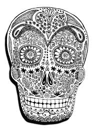 Small Picture halloween skeleton head Halloween Coloring pages for adults