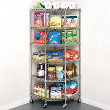 6 tier heavy duty corner shelf liners adjustable steel metal wire shelving rack