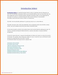 Introductory Letter Business Introductory Letter Formal Introduction Format Self Pdf