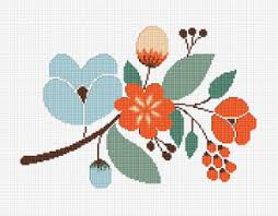 Cross Stitch Flower Patterns Magnificent Floral Motif Cross Stitch Pattern
