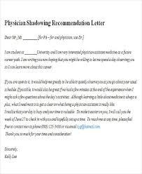 5 Sample Physician Recommendation Letter Free Sample Covering Letter