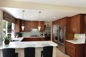 U Shaped Kitchen Remodel Kitchen Kitchen Remodel With Black Wooden Cabinet And Rack Also